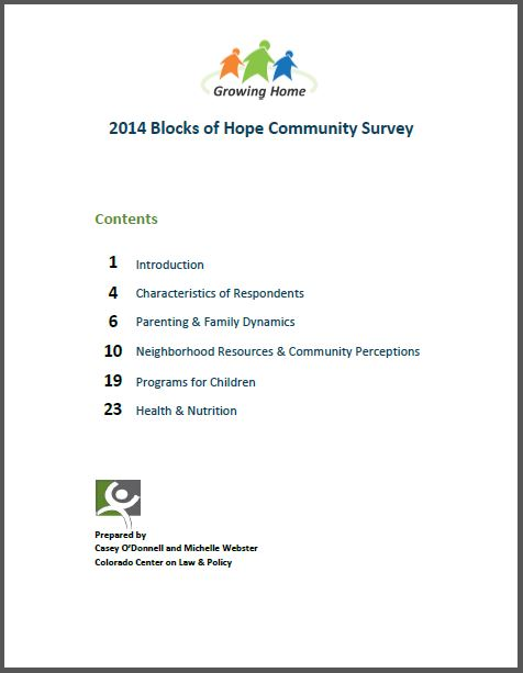 Blocks of Hope Community Survey