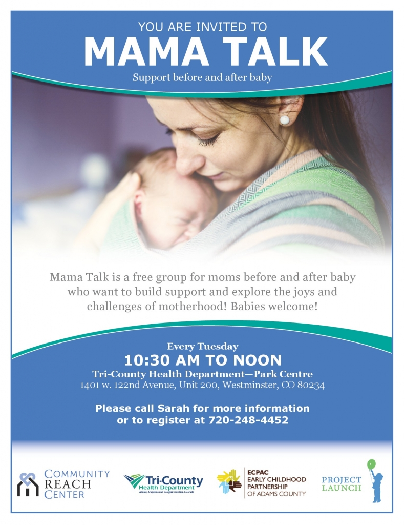 Mamma Talk @ Tri-County Health Department- Park Centre  | Westminster | Colorado | United States